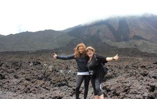 Annette White at Pacaya Volcano Guatemala