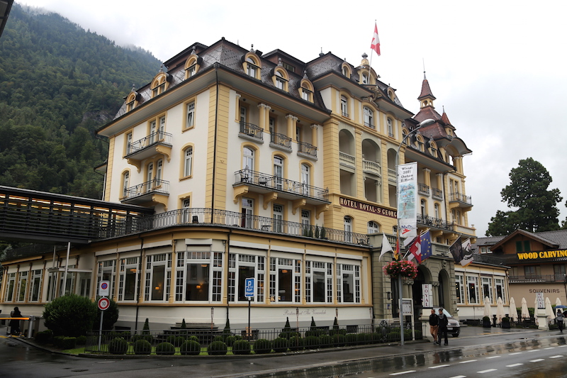 Interlaken downtown in Switzerland