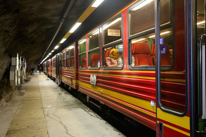 Cogwheel Train in Switzerland