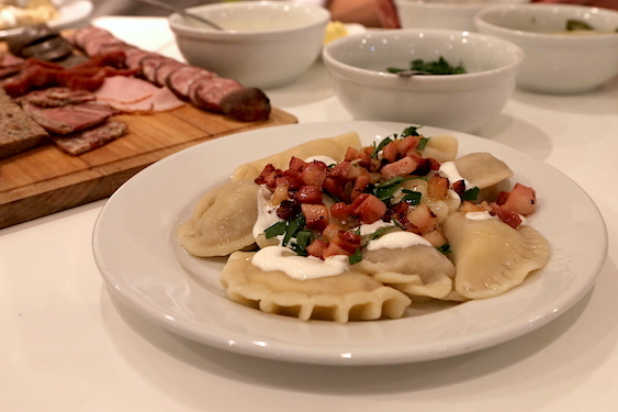 Pierogi made with Polish Your Cooking in Warsaw