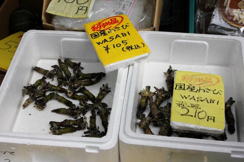 Wasabi at Tsukiji Fish Market in Tokyo