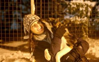 Annette White Dog Sledding in Tromso Norway