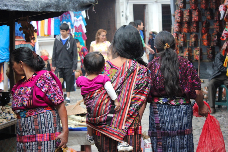 Colorful traditional dress at Chichi Market in Chichicastenango Guatemala