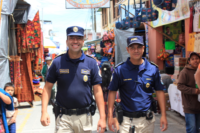 Our security guards at Chichi Market in Chichicastenango Guatemala