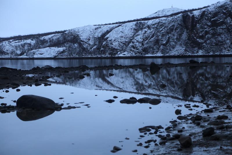 The view of Kirkenes Northern Norway