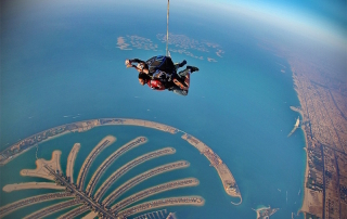 Sky dive over Palm Jumeirah