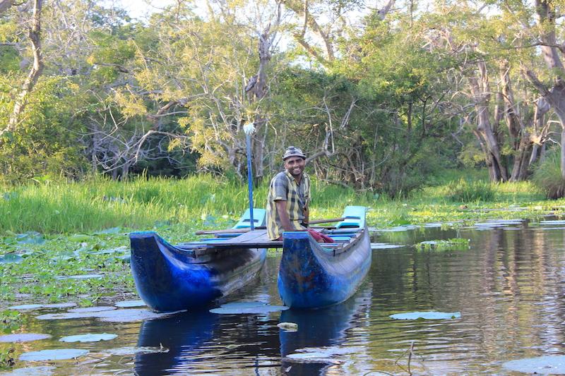 Boat Ride on the Hiriwaduna Village Trek in Sri Lanka