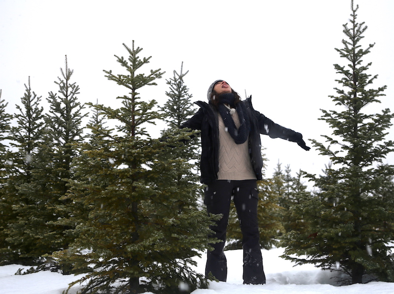 Annette White Catching snowflakes in Bigfork Western Montana