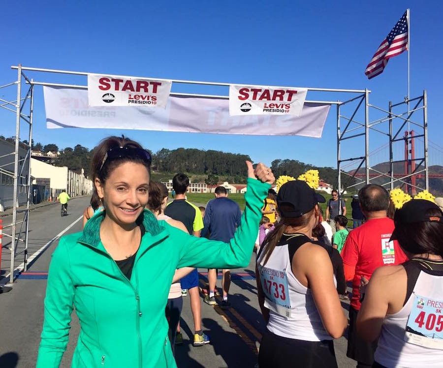 Annette White at San Francisco Golden Gate 5k Run