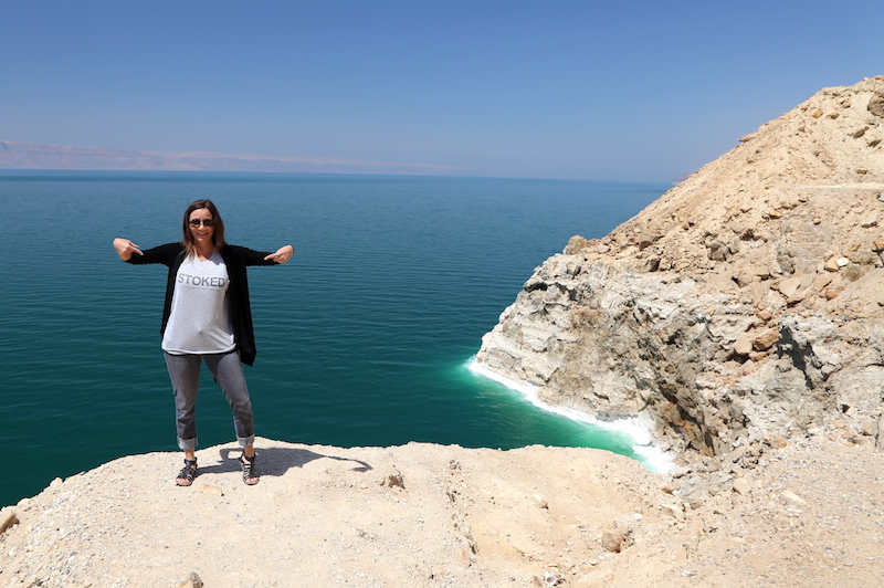 Annette White at The Dead Sea in Jordan