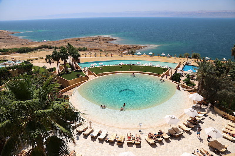 View of the Dead Sea from the kempinski hotel ishtar dead sea