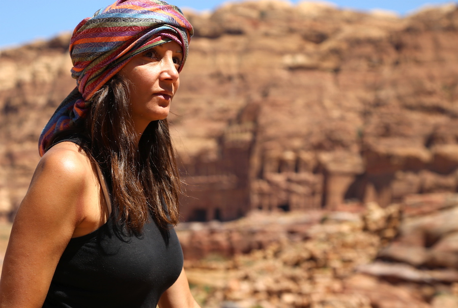 Annette White at Petra Archaeological Site in Jordan