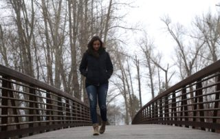 Annette White Walking in Montana