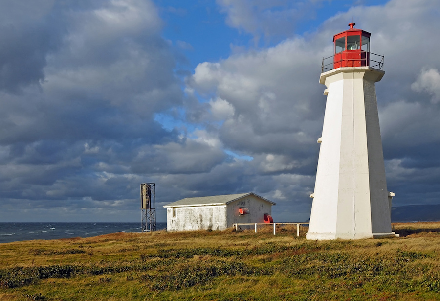 Enragee Lighthouse on the Cabot Trail in Nova Scotia