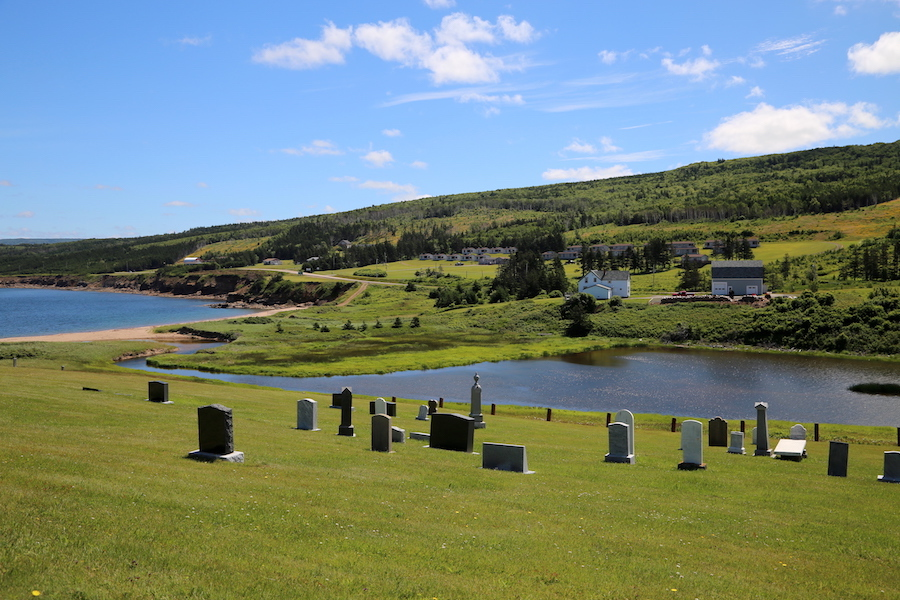 Whale Cove & Cemetery on the Cabot Trail