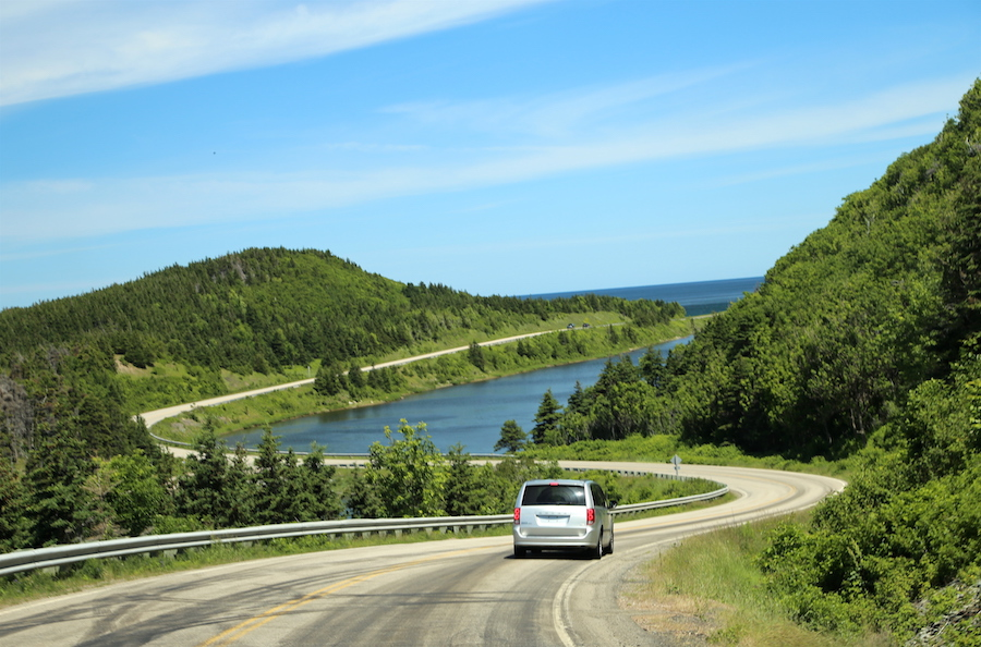 Driving the Cabot Trail in Nova Scotia