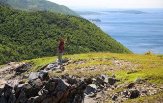 Annette White hiking the Skyline Trail in Cape Breton Highlands national Park