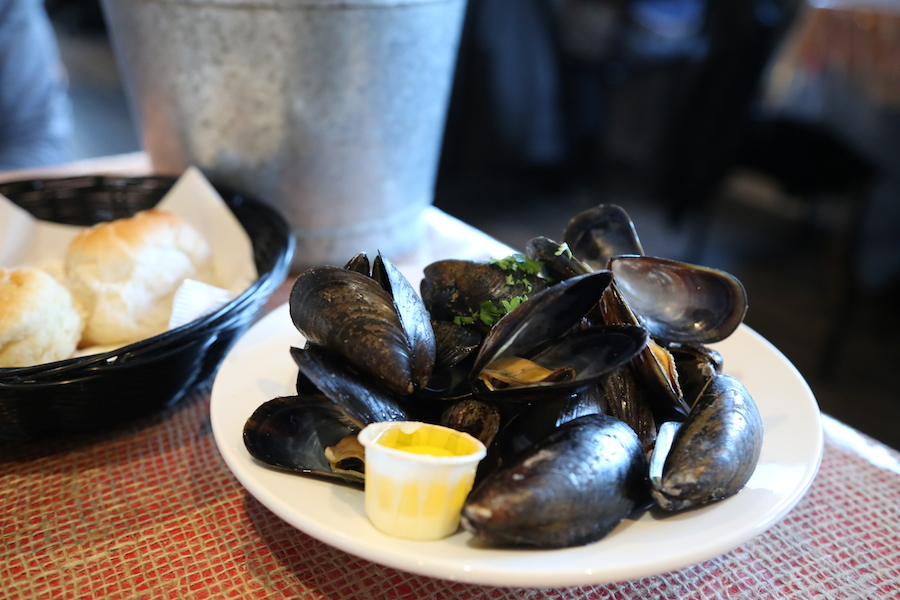All you can eat Mussels at Baddeck Lobster Suppers