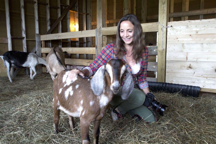 Annette White at the Groovy Goat Farm in Cape Breton, Nova Scotia