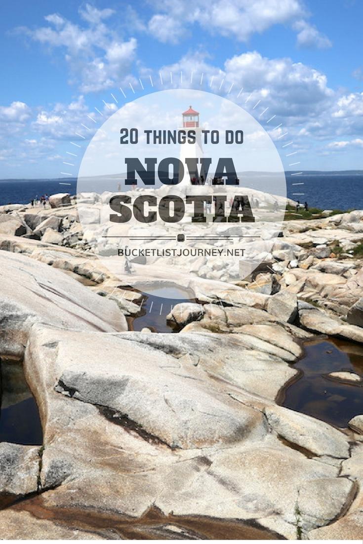 Nova Scotia Bucket List: 20 Things to Do
