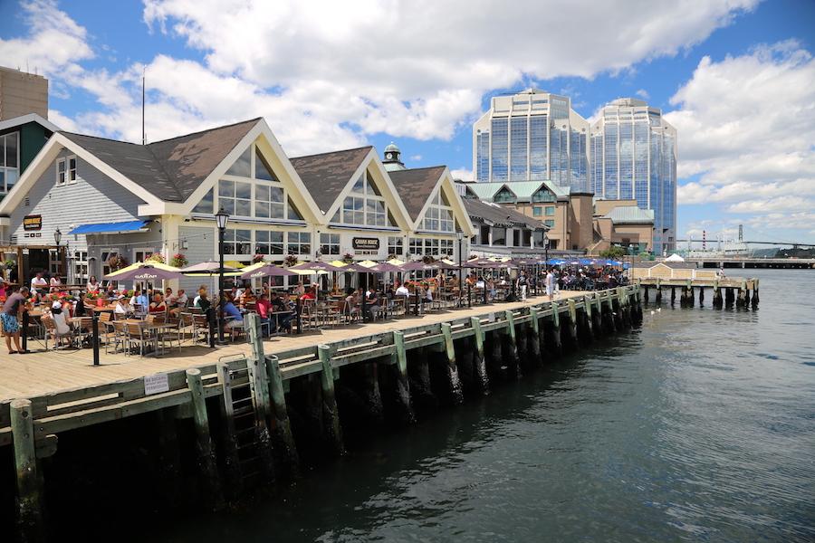 The longest wooden boardwalk in Halifax, Nova Scotia