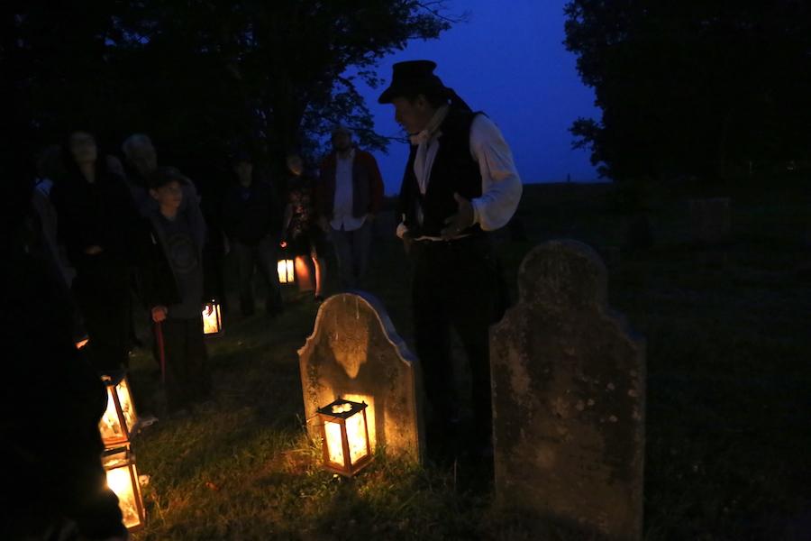The spooky graveyard tour in Annapolis Royal, Nova Scotia