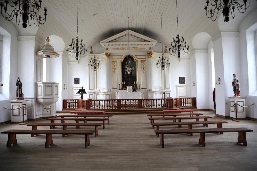 The church in Louisbourg in Nova Scotia Canada