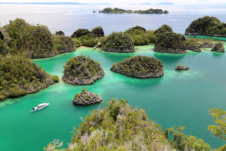 The view on Piaynemo island in Raja Ampat