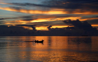 The sunset in Raja Ampat