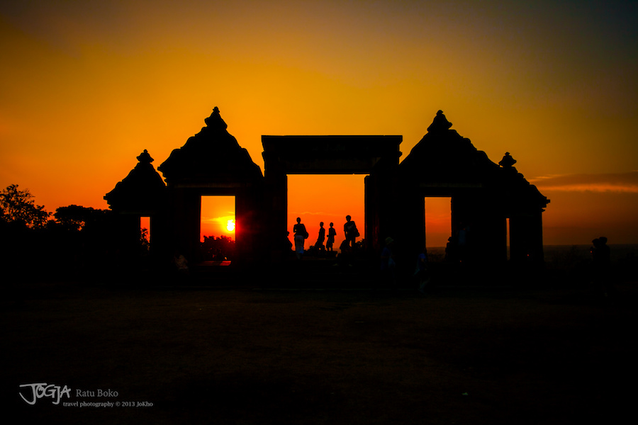 Sunset at Ratu Boko in Indonesia