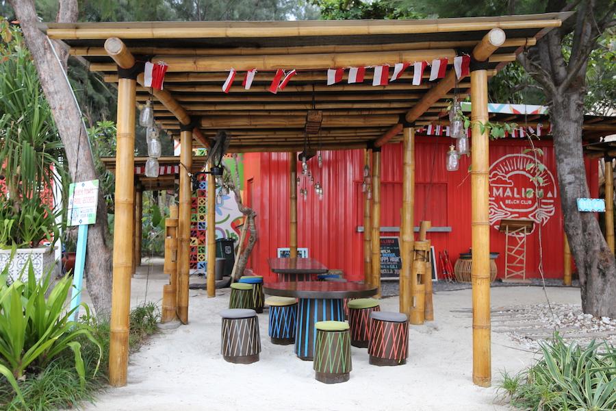 A Cafe on Gili Trawangan island in Indonesia