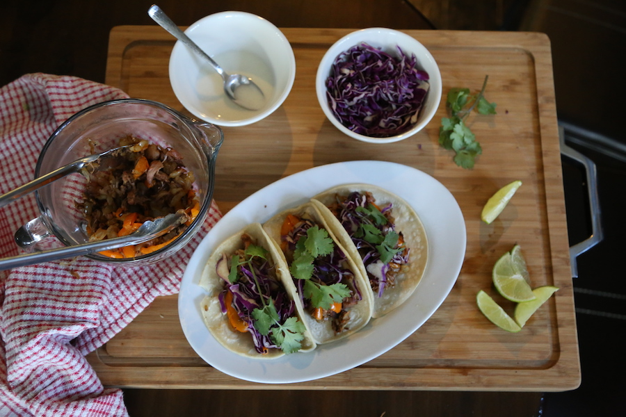 Purple Carrot Jackfruit Tacos