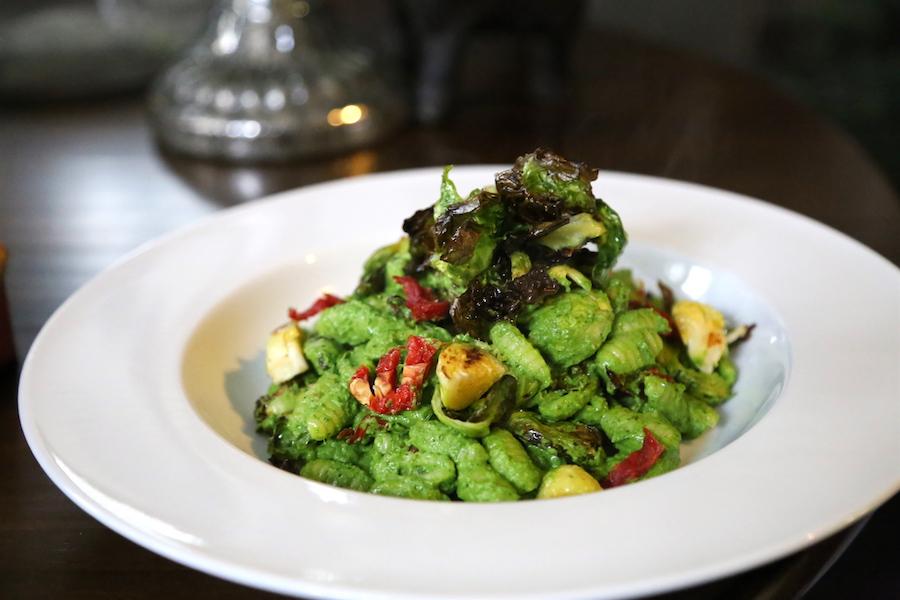 The Cavatelli with Arugula Pesto pasta from Purple Carrot