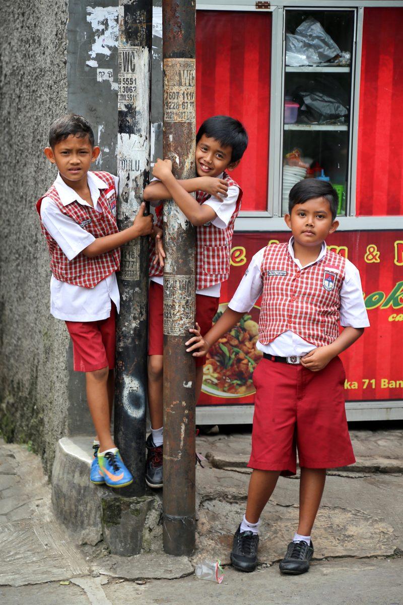 The children of Bandung, Indonesia