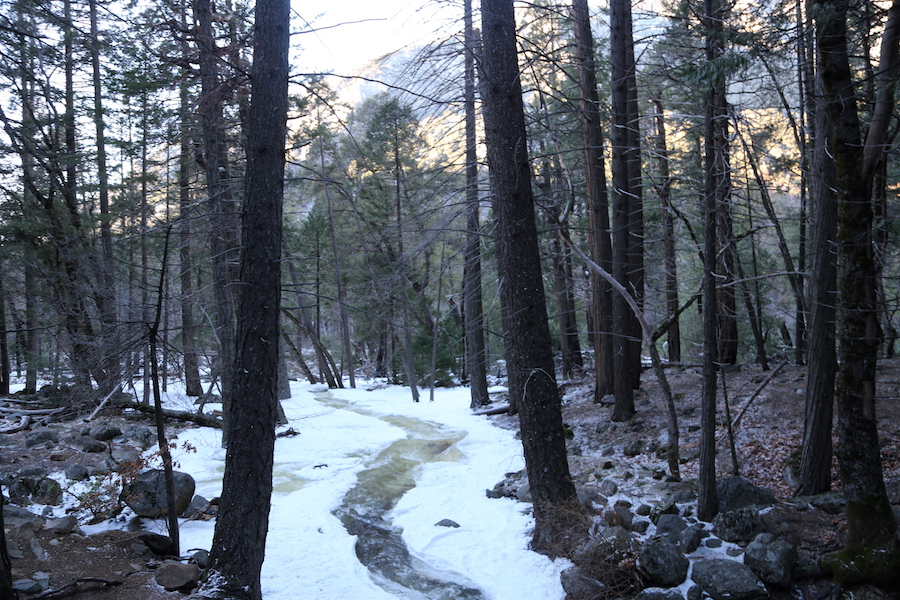 Yosemite Valley National Park in the Winter