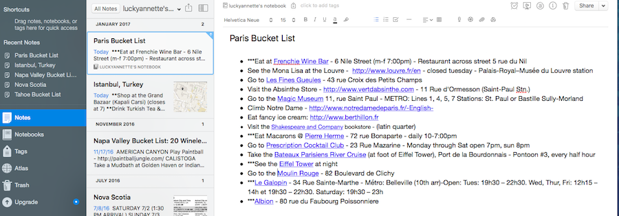 Creating the perfect Paris Itinerary