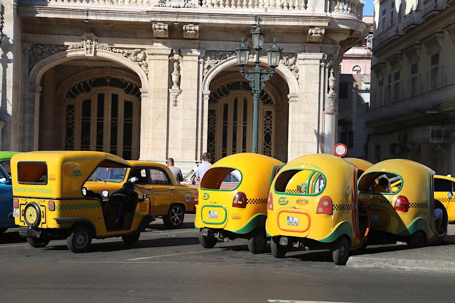 Little taxi cabs in Havana Cuba
