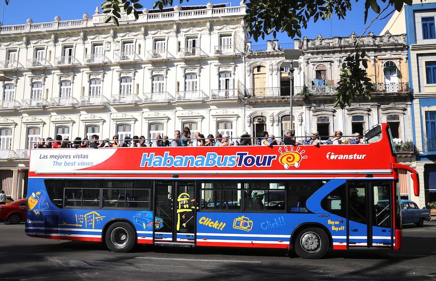 The Hop On Hop Off Bus in Havana, Cuba