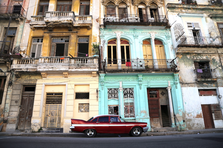 A classic car on the streets of Havana Cuba