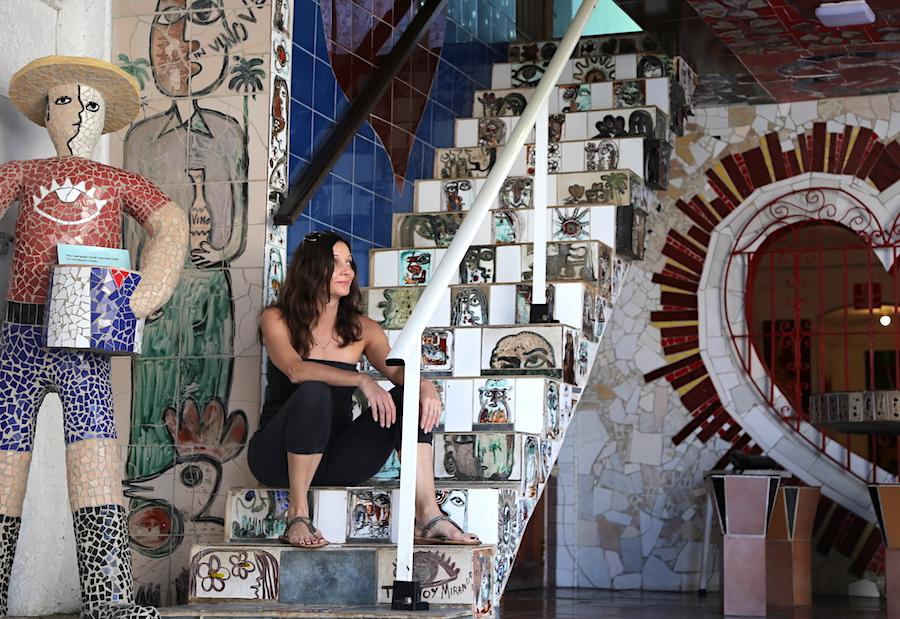 Annette White at Fusterlandia in Havana, Cuba