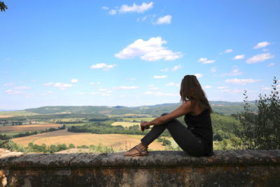 Annette White at Montestigliano luxury villa estate in Tuscany