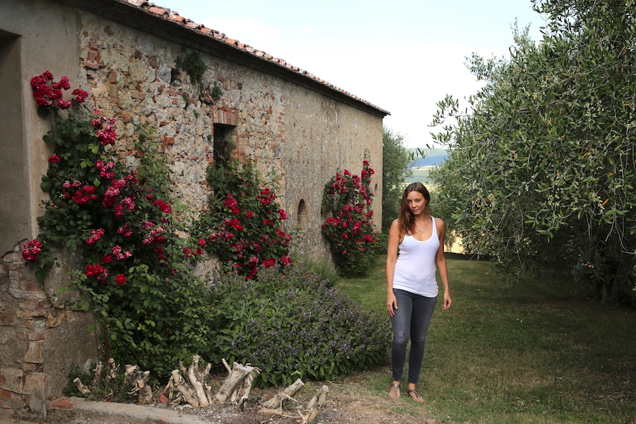 Annette White in Northern Italy at Montestigliano luxury farmhouse villas