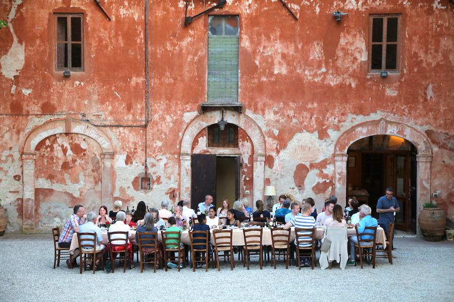 Alfresco Dining at Montestigliano luxury villa estate in Tuscany
