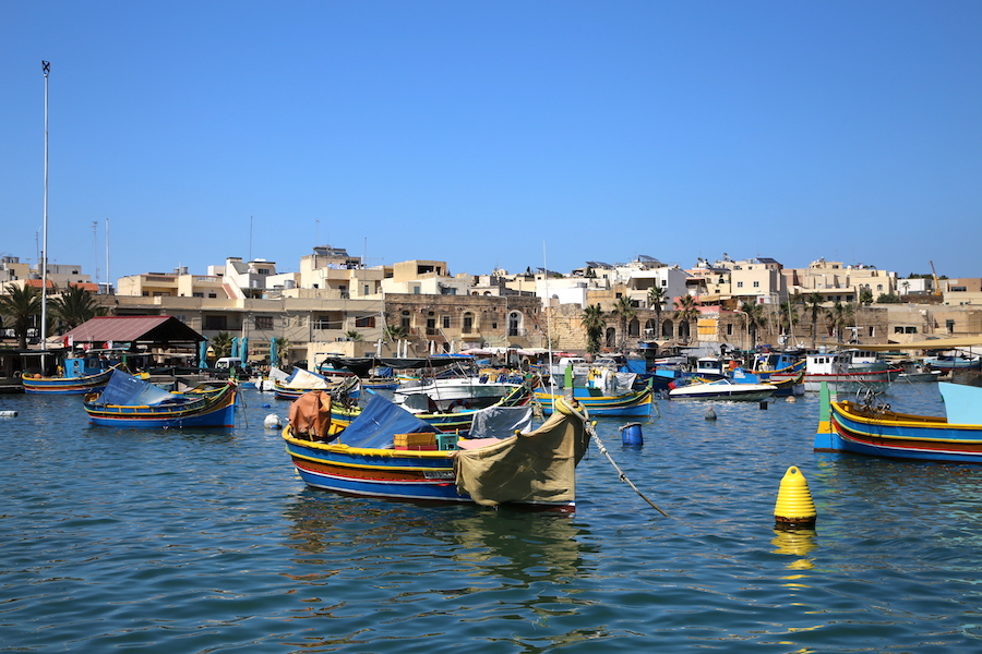 The fishing village of Marsaxlokk in Malta