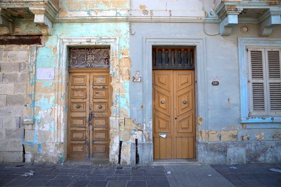 Doors in The fishing village of Marsaxlokk in Malta