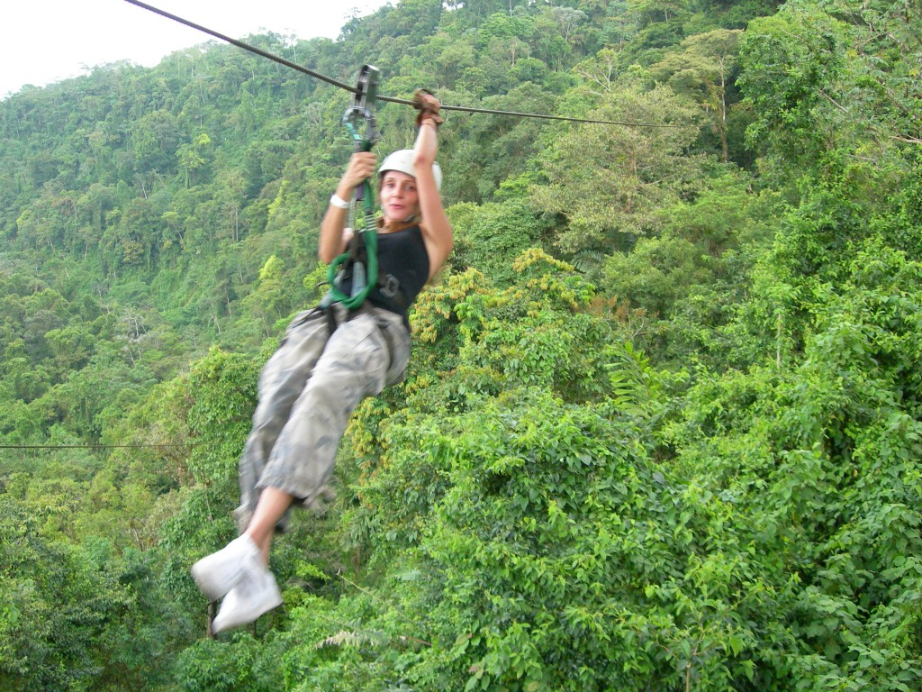 Annette White Ziplining in Costa Rica