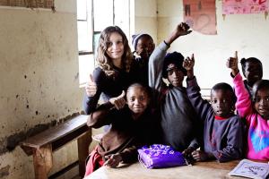 Annette White at Essa School in Tanzania Africa