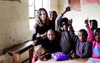 Annette White at Essa School in Tanzania Africa