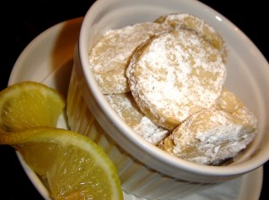 Limoncello Meltaway Cookies