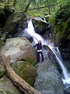 annette white hiking a waterfall